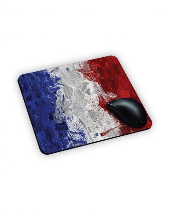 tappetino da mouse con stampa bandiera francese