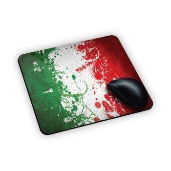 Tappetino da mouse con bandiera italiana stampata in sublimatico