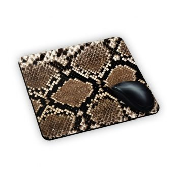 mouse pad con pelle serpente
