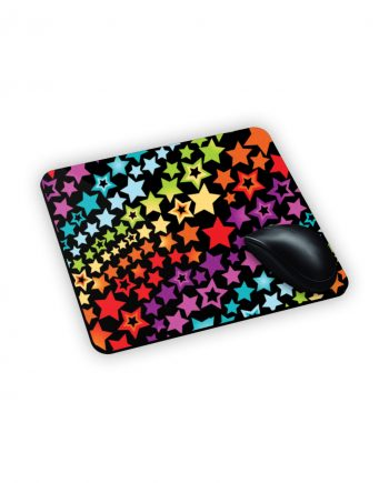 Mouse Pad con stelle colorate in arcobaleno