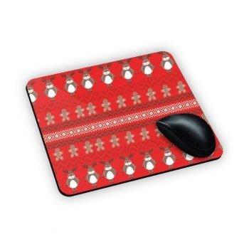 tappeto mouse personalizzato con renne e biscotti