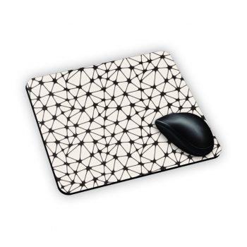 retina bianca disposta a pattern rappresentata su mouse pad
