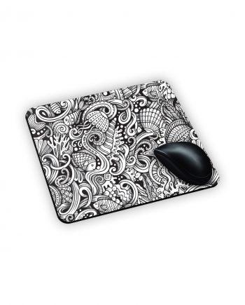 mouse personalizzato tappeto bianco e nero