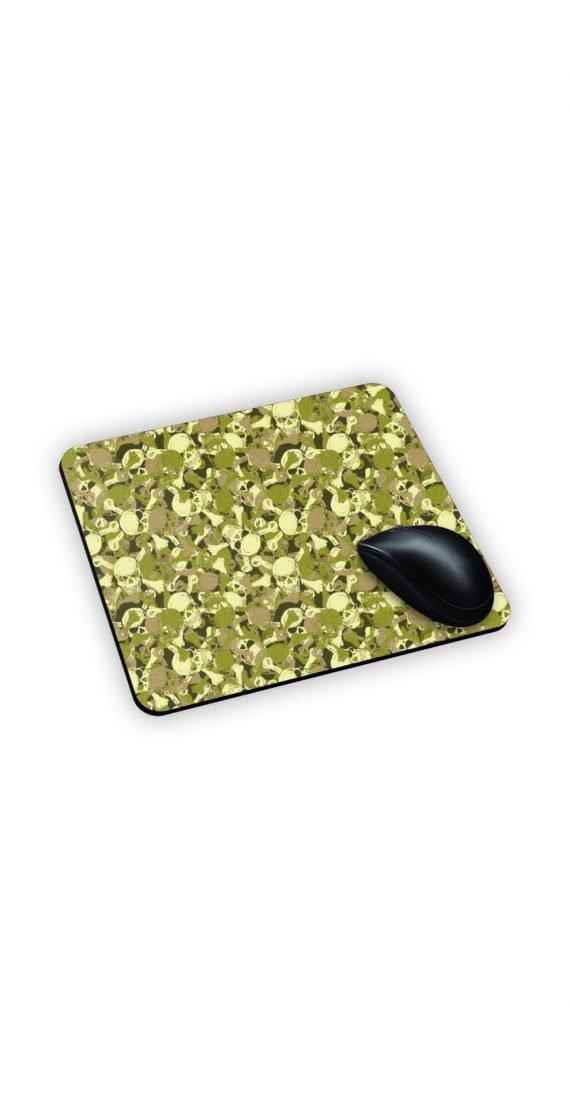 mouse pad con teschi dai colori militari personalizzato
