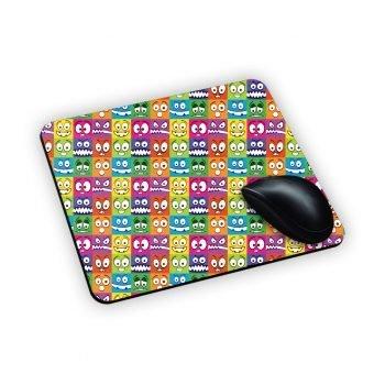 tappeto da mouse con facce colorate