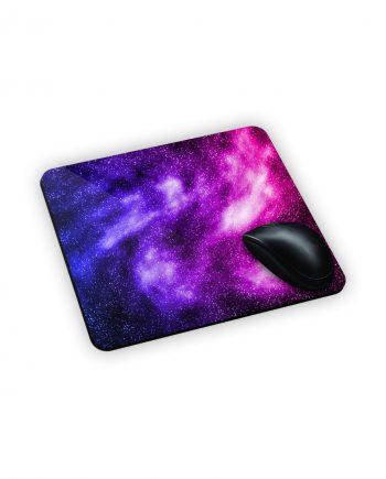 galassia colorata stampata su mouse pad
