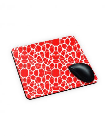 tappetino mouse con texture rossa e bianca