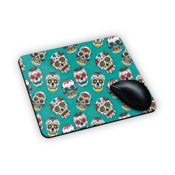 mouse pad con teschi su azzurro