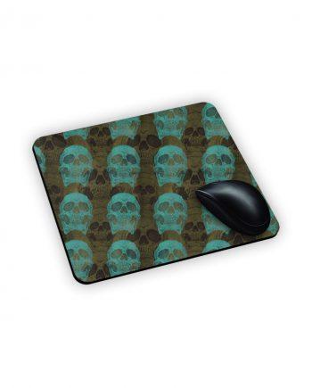 teschi verdi acqua su mouse pad in poliestere
