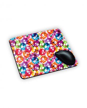 Mouse Pad con teschi trasparenti colorati